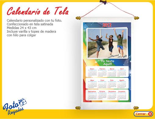 Calendarios de tela con fotos fotoregalos personalizados - Colgador de tela con bolsillos ...